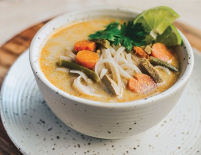 Thai Coconut Rice Noodle Soup