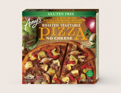 Roasted Vegetable Pizza, Gluten Free, Dairy Free, Single Serve