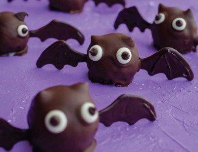 Vegan Chocolate Coconut Bat Truffles