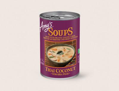 Thai Coconut Soup - Tom Kha Phak hover image