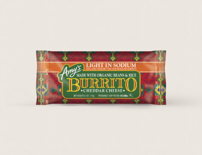 Cheddar Cheese, Bean & Rice Burrito, Light in Sodium hover image