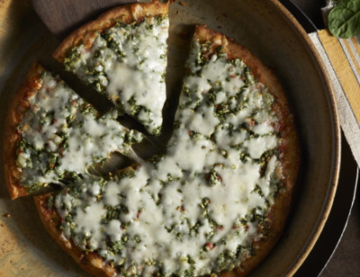Spinach Veggie Crust Pizza