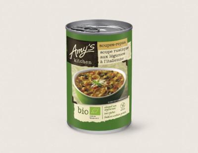Soupe rustique aux légumes à l'italienne bio hover image