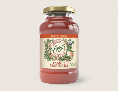 Organic Family Marinara Pasta Sauce. Light in Sodium