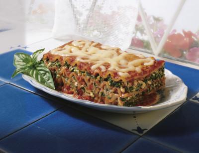 Lasagnes aux légumes bio, sans gluten standard image