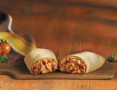 Cheddar Cheese, Bean & Rice Burrito, Gluten Free standard image