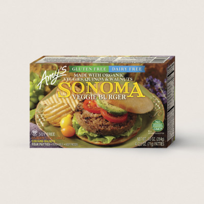 Sonoma Veggie Burger, Gluten Free, Dairy Free