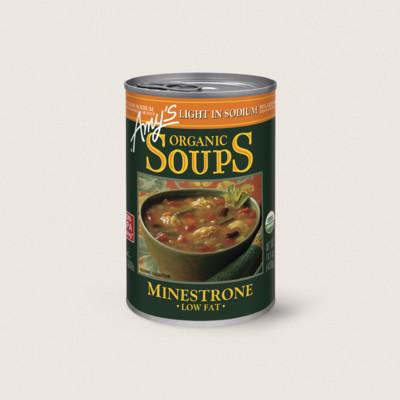 Organic Minestrone Soup, Light in Sodium