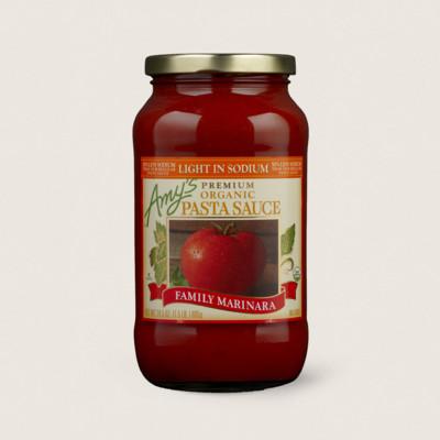 Organic Family Marinara Pasta Sauce, Light in Sodium