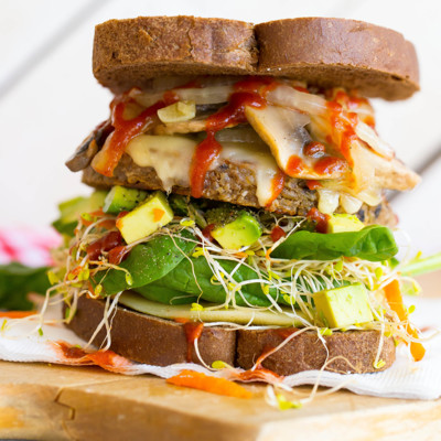 Amy's Veggie Burger Toastie