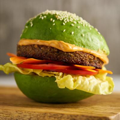 Amys Veggie Burger Sesame Avocado Bun