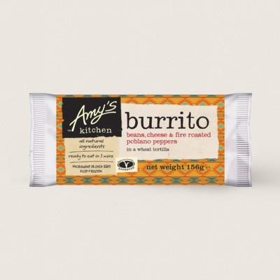 Beans, Cheese & Peppers Burrito