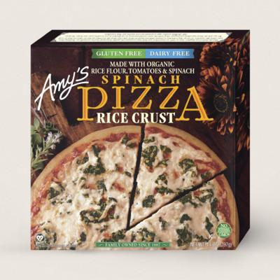 Spinach Pizza, Gluten Free, Dairy Free