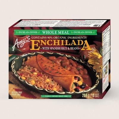 Black Bean Enchilada Whole Meal/Fait De Riz Espagnol Et Fèves Enchilada