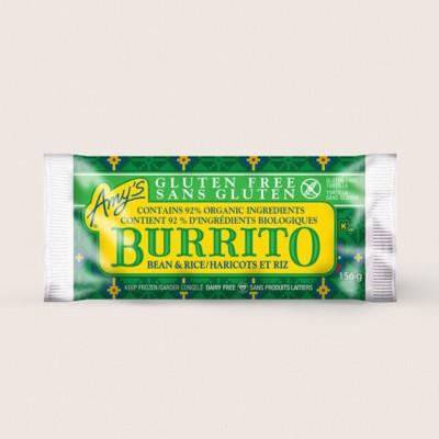 Gluten Free Bean & Rice Burrito/Haricots Et Riz