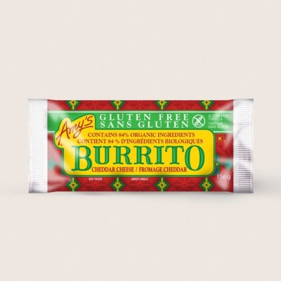 Gluten Free Bean & Cheese Burrito/Sans Gluten Fromage Cheddar Burrito