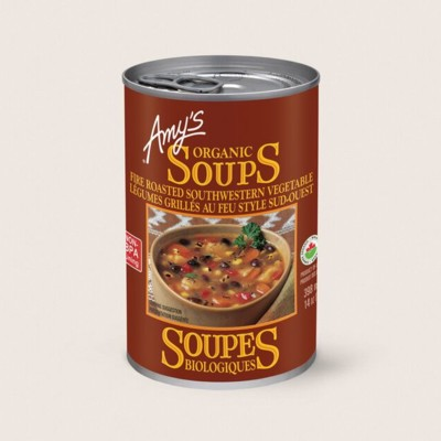 Organic Fire Roasted Southwestern Vegetable Soup/Légumes Grillés Au Feu Style Sud-west Biologiques