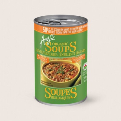 Organic Lentil Vegetable Soup, Lower in Sodium/Lentilles Et Légumes Biologiques, Teneur Réduite en Sodium