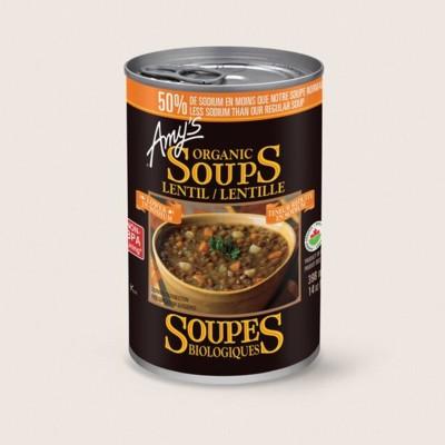 Organic Lentil Soup, Lower in Sodium/Lentille Biologique, Teneur Réduite en Sodium
