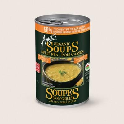 Organic Split Pea Soup, Lower in Sodium/Pois Cassés Biologiques, Teneur Réduite en Sodium