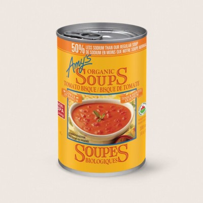 Organic Tomato Bisque, Lower in Sodium/Bisque De Tomate Biologique,Teneur Réduite en Sodium