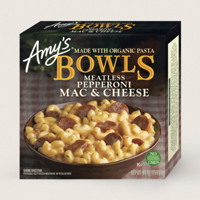 Mac & Cheese Meatless Pepperoni Bowl