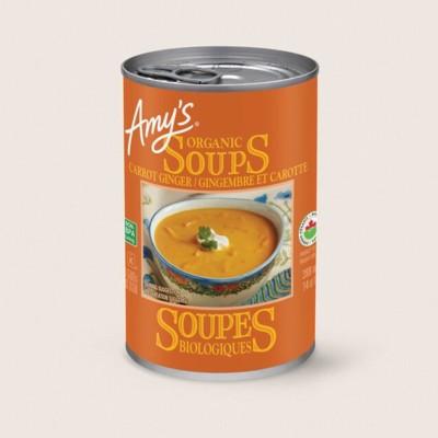 Organic Carrot Ginger Soup/Gingembre Et Carotte Biologique