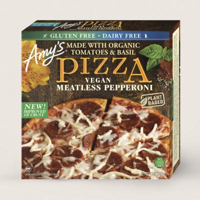 Gluten Free, Vegan Meatless Pepperoni Pizza