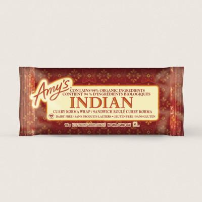 Indian Curry Korma Wrap/Sandwich roulé curry korma
