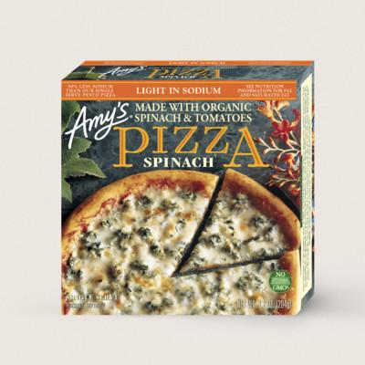 Spinach Pizza, Light in Sodium, Single Serve