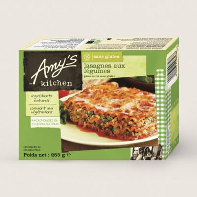 Lasagnes aux légumes, sans gluten