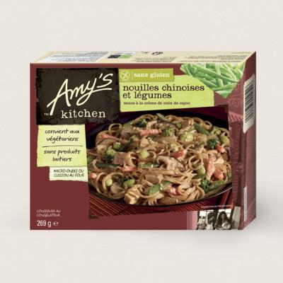 Nouilles chinoises et légumes, sans gluten