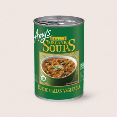 Organic Hearty Rustic Italian Vegetable Soup