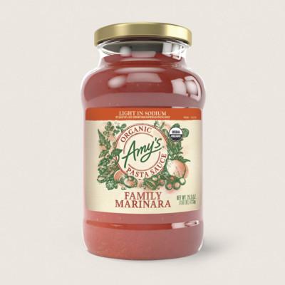Organic Family Marinara Pasta Sauce. Light in Sodium