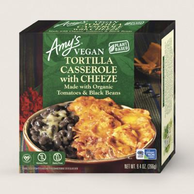 Vegan Tortilla Casserole with Cheeze