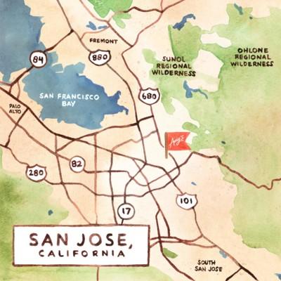 Amy's San Jose Map