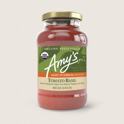 Organic Tomato Basil Pasta Sauce, Light in Sodium