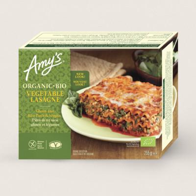Lasagnes aux légumes bio, sans gluten