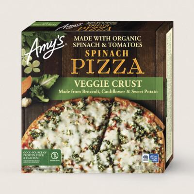 Spinach Veggie Crust Pizza