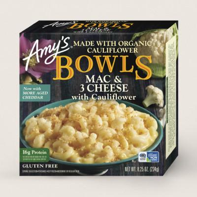 Mac & 3 Cheese with Cauliflower Bowl