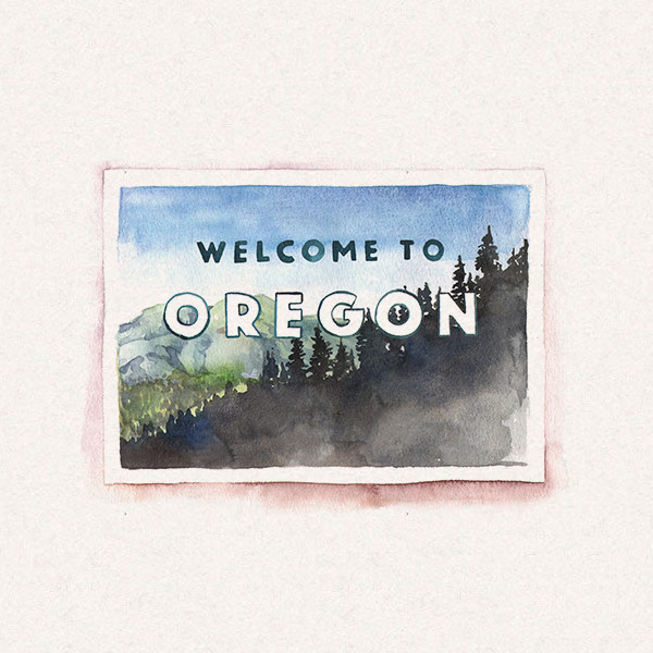 Amy's Oregon postcard