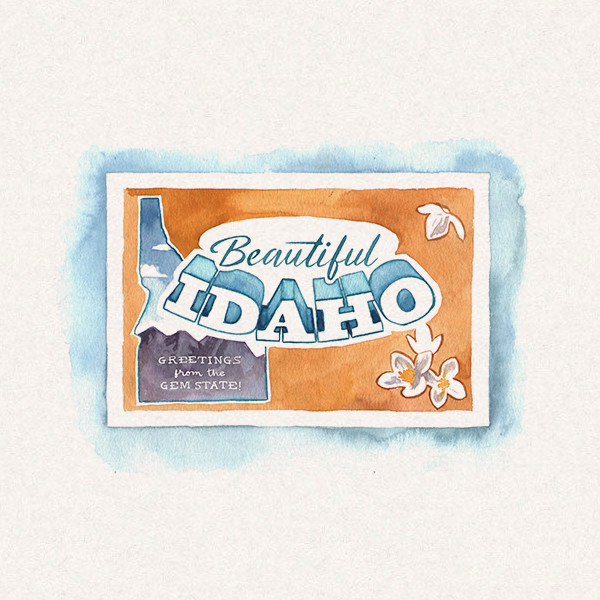 Amy's Idaho postcard