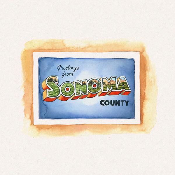 Amy's Sonoma postcard
